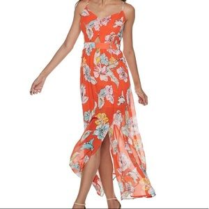 Candies Red Floral Maxi Dress | XS
